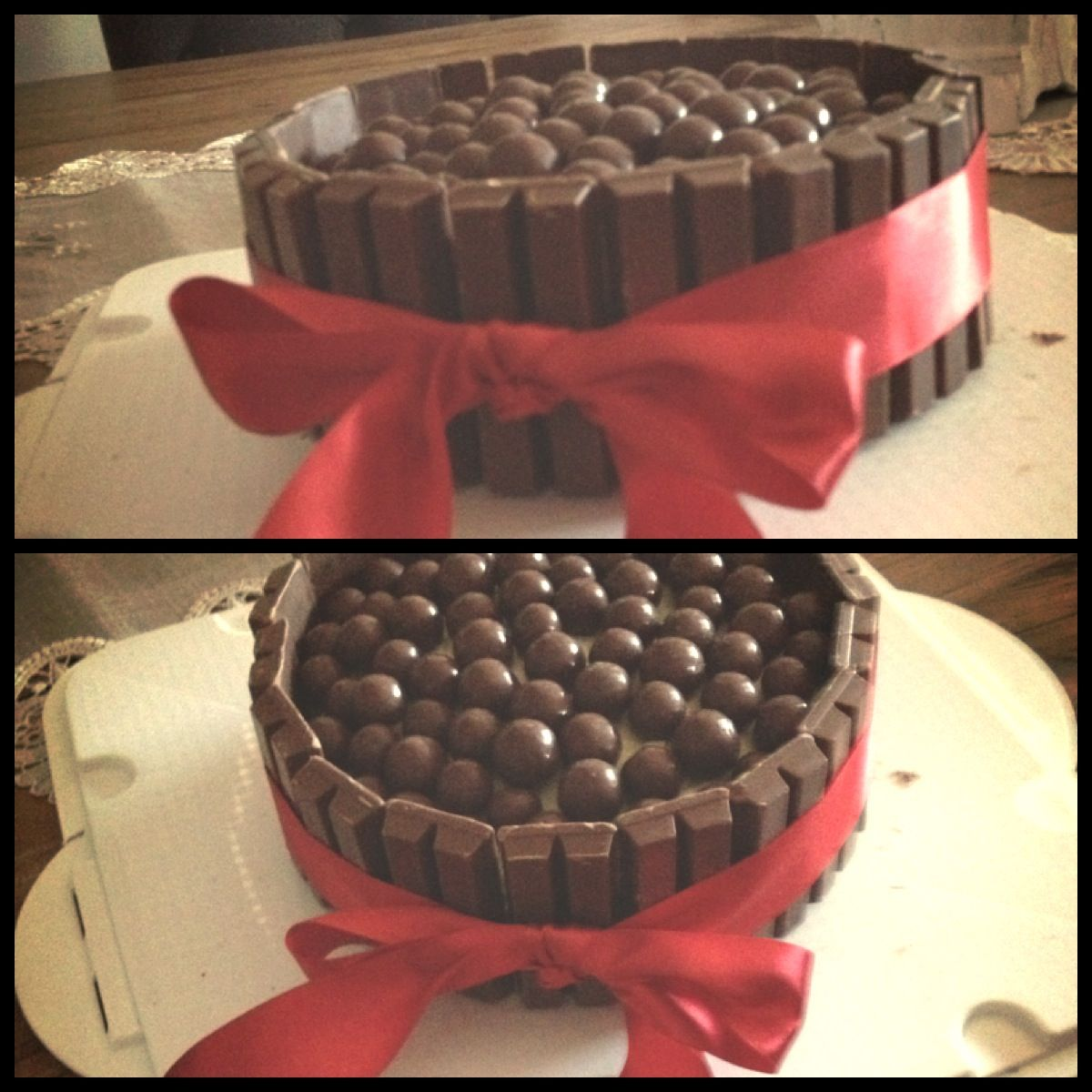 So easy DIY cake decorating- store bought mud cake covered ...