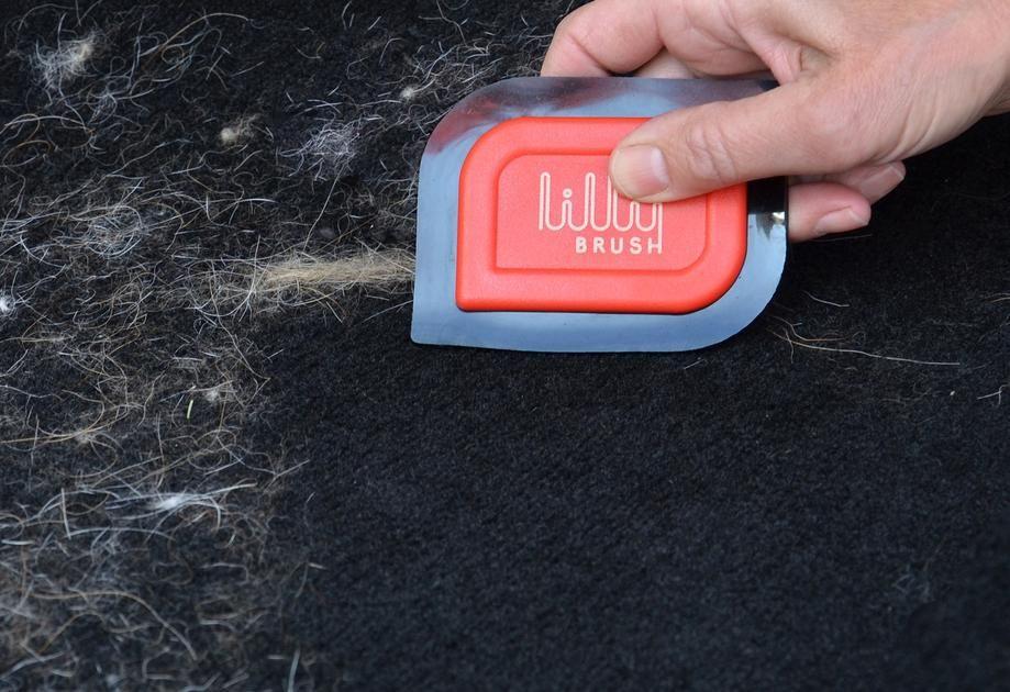 Mini PET HAIR DETAILER for pet hair that's woven into car