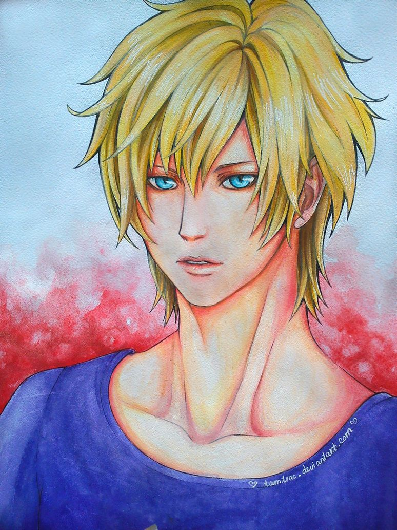 Anime Boy With Blonde Hair By Tamtrac On Deviantart Anime Guys Anime Guy Blue Hair Anime
