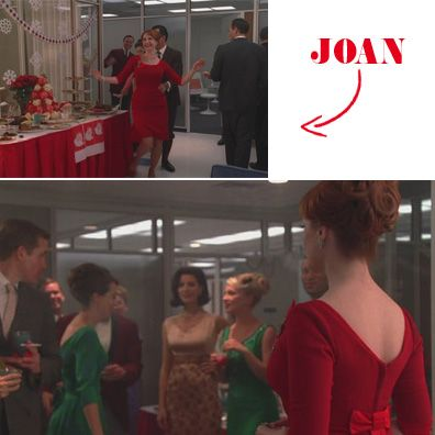 #MadMen Fave Looks: Joan's Red Christmas Dress
