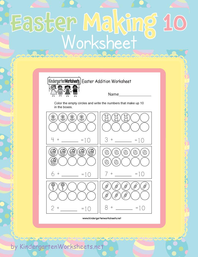 Kindergarten Easter Making 10 Worksheet Holiday Worksheets Easter Worksheets Kindergarten Easter Worksheets [ 1035 x 800 Pixel ]