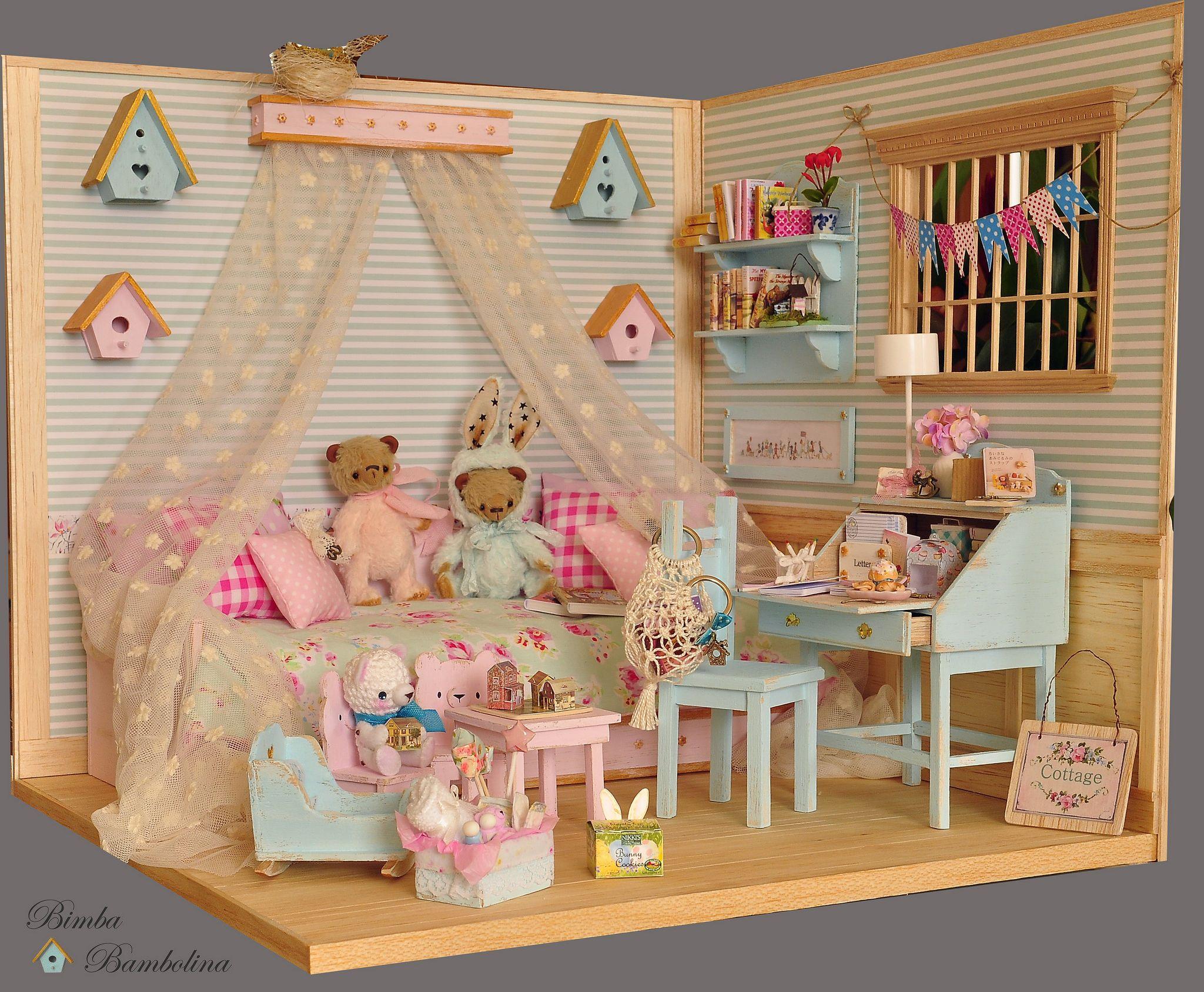 OOAK Diorama Romantic Room | Miniatur, Puppenstube und modernes ...