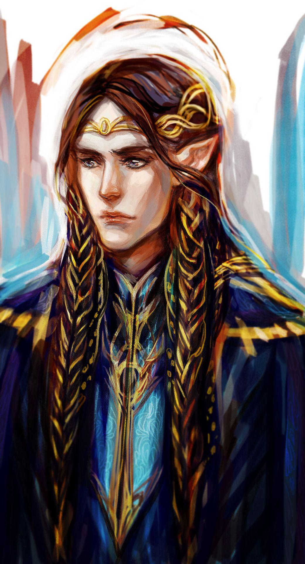 Fingon as High King for kingfingon by luaen #silmarillion #fanart