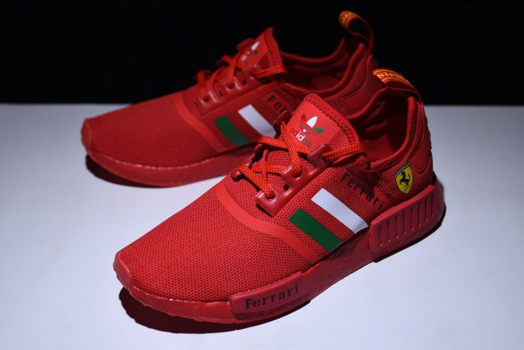 025c9eb236e6d New Limited Ferrari X Adidas Nmd R1 Boost Custom Men s Running Shoes Triple  Red