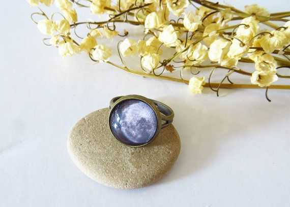 This item is unavailable  Sun and Stars Jewelry  This item is unavailable Moon Ring Full Moon Ring Moon Jewelry Moon Solar System Night Ring Moonlight Space Ring Galaxy R...