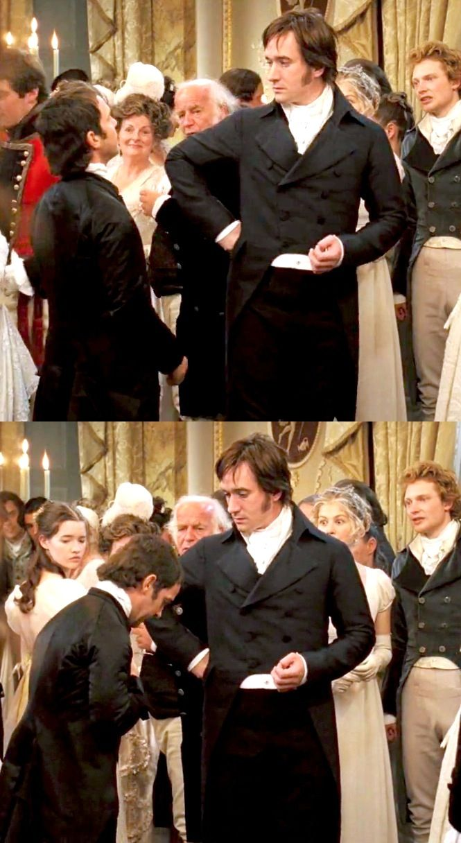 bingley's & jane's facial expressions = priceless. Plus, Mr. Darcy looks extra Dashing right here. Please, Mr. Darcy, stop being so handsome. I can't take it.