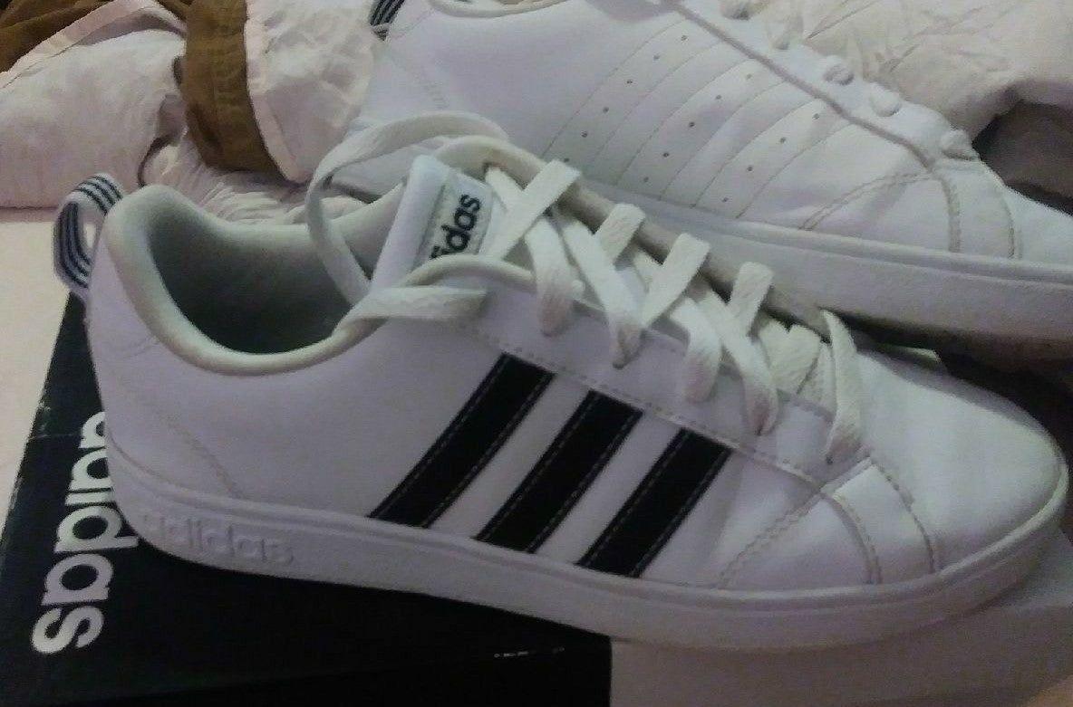 Adidas, Black stripes, Adidas sneakers