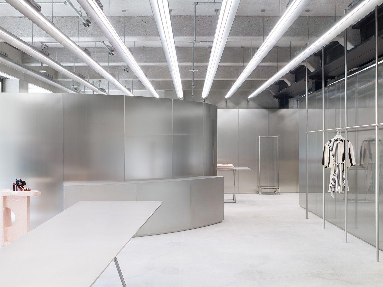 Acne studios munich store s t o r e retail store for Interior design munich