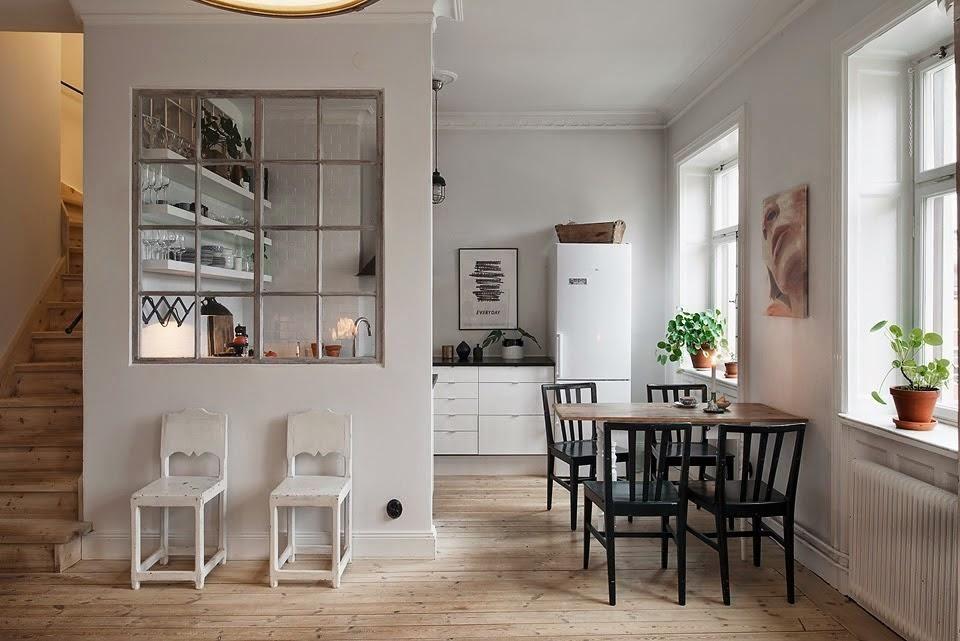 Ideas para zonas de cocina abiertas al salón. Nos encantan estas ideas para  cocinas reales que deben integrarse en el salón. El cristal es perfecto para  ...