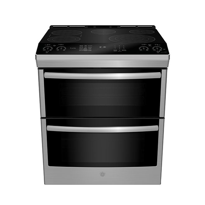 Ge Slide In Double Oven Electric Range 6 7 Cu Ft Stainless