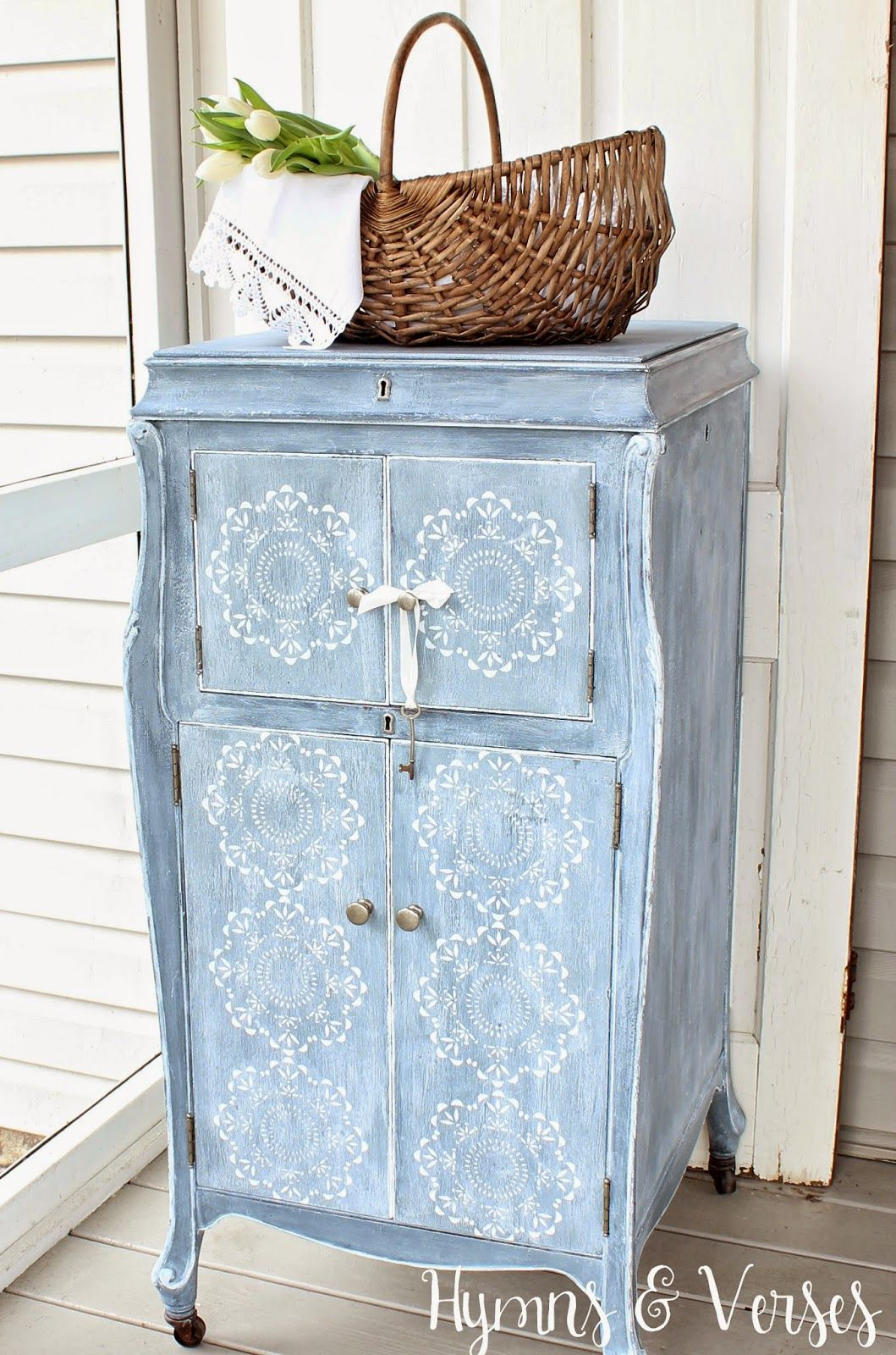 hymns and verses vintage victrola cabinet before and after rh pinterest com