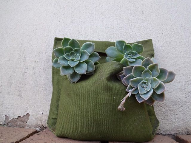 Make Your Own Fabric Wall Planter Pockets Maak It Wall Planter Fabric Wall Planters