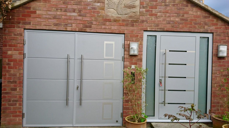Rk950 Ryterna Shd Ral 9006 Garage Doors Side Hinged Garage Doors Garage Door Design