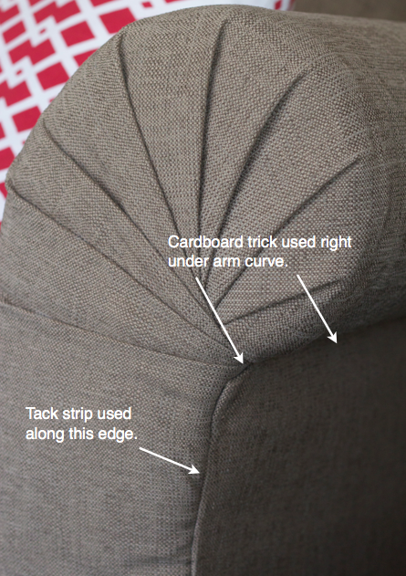 DIY Strip Fabric From a Couch and Reupholster It #diyfurniture