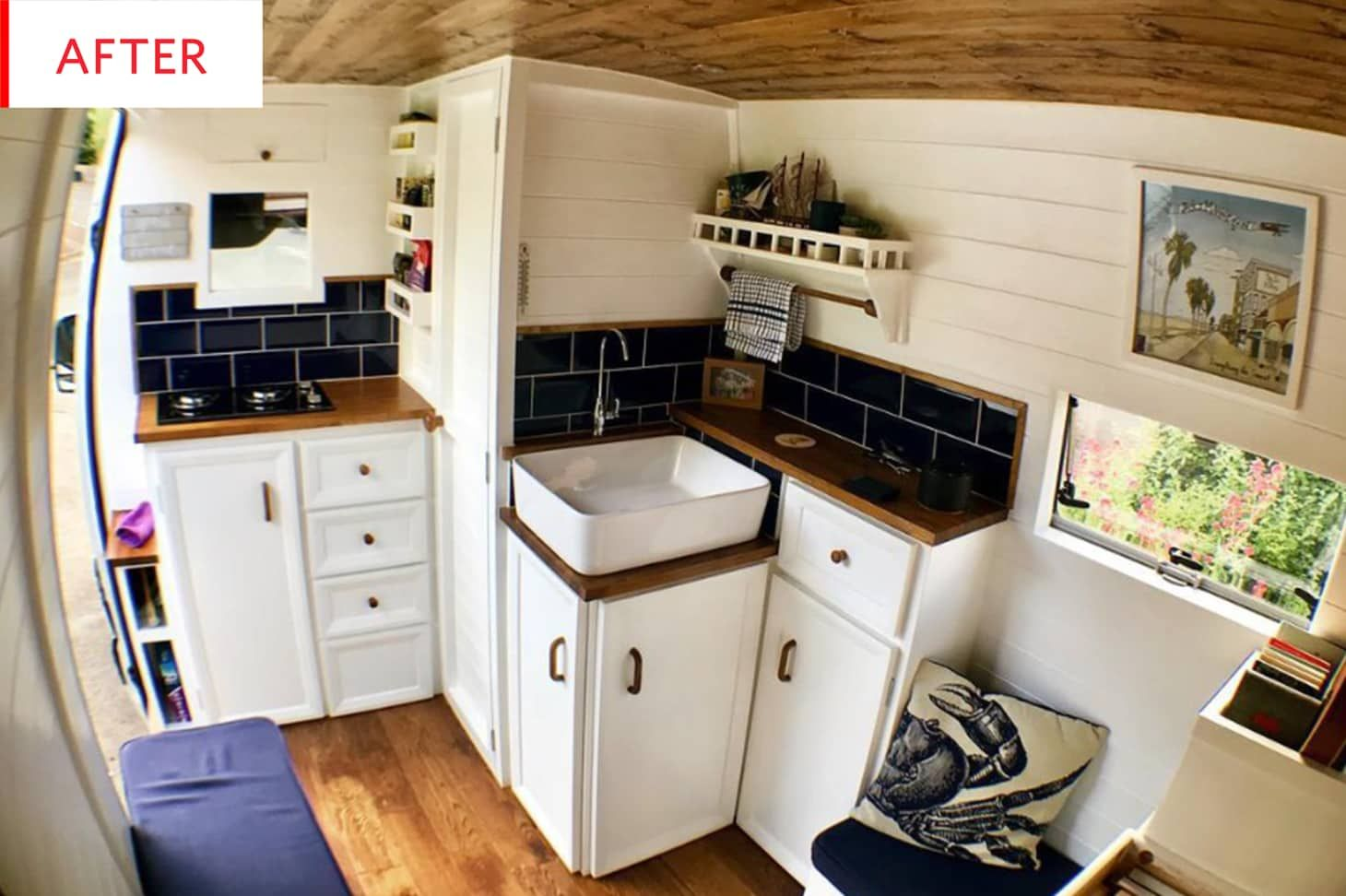 Photo of Before and After: This Converted Sprinter Van Even Has an Actual Bathroom