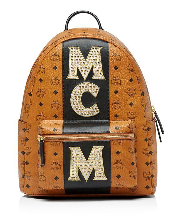 304906fe54 Mcm Stark Stripe Stud Backpack   Backpack   Studded backpack, Men's ...