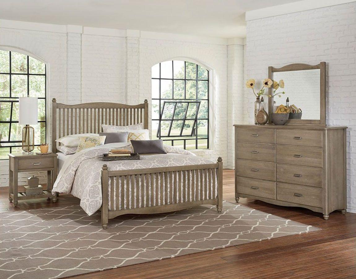 American Maple Youth Slat Panel Bedroom Set (Rustic Grey