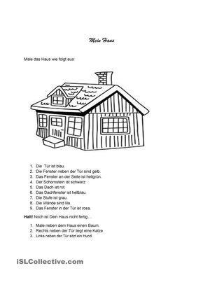 mein haus die wohnung deutsch unterricht arbeitsbl tter und deutsch lernen. Black Bedroom Furniture Sets. Home Design Ideas
