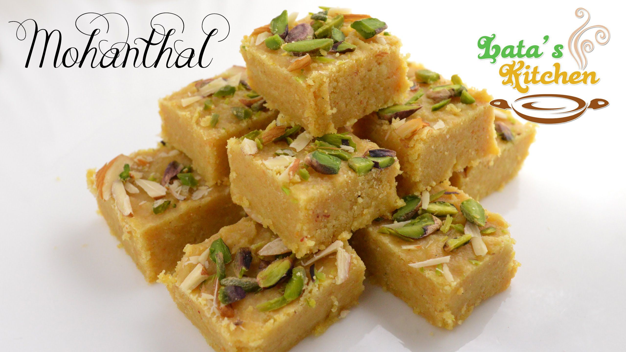 Mohanthal Recipe Video — Gujarati Indian Vegetarian Fudge