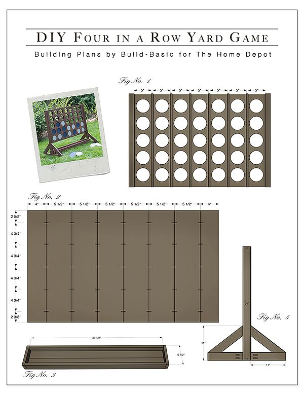 Diy backyard game four in a row the home depot yard games really good and easy tutorial to build connect four four in a row malvernweather Choice Image