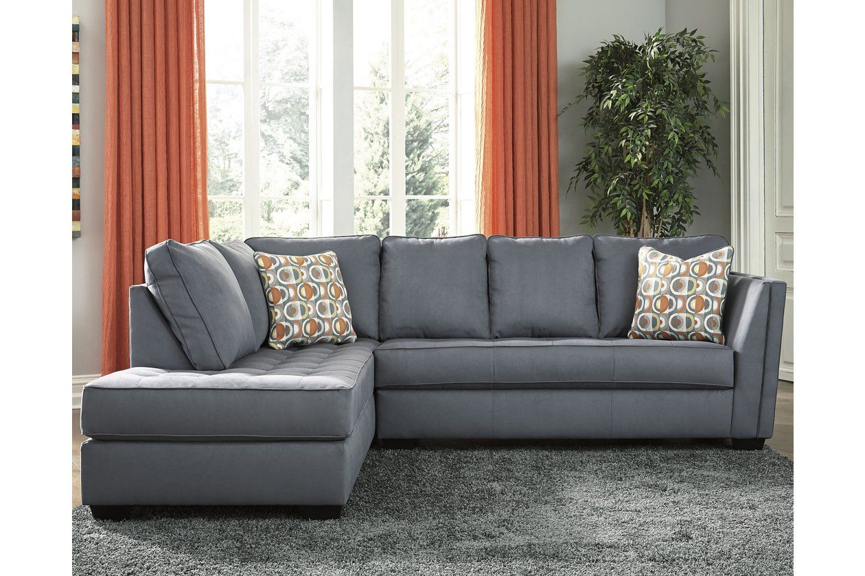 Filone 2 Piece Sectional With Chaise In 2020 Circle Sofa Sectional Furniture