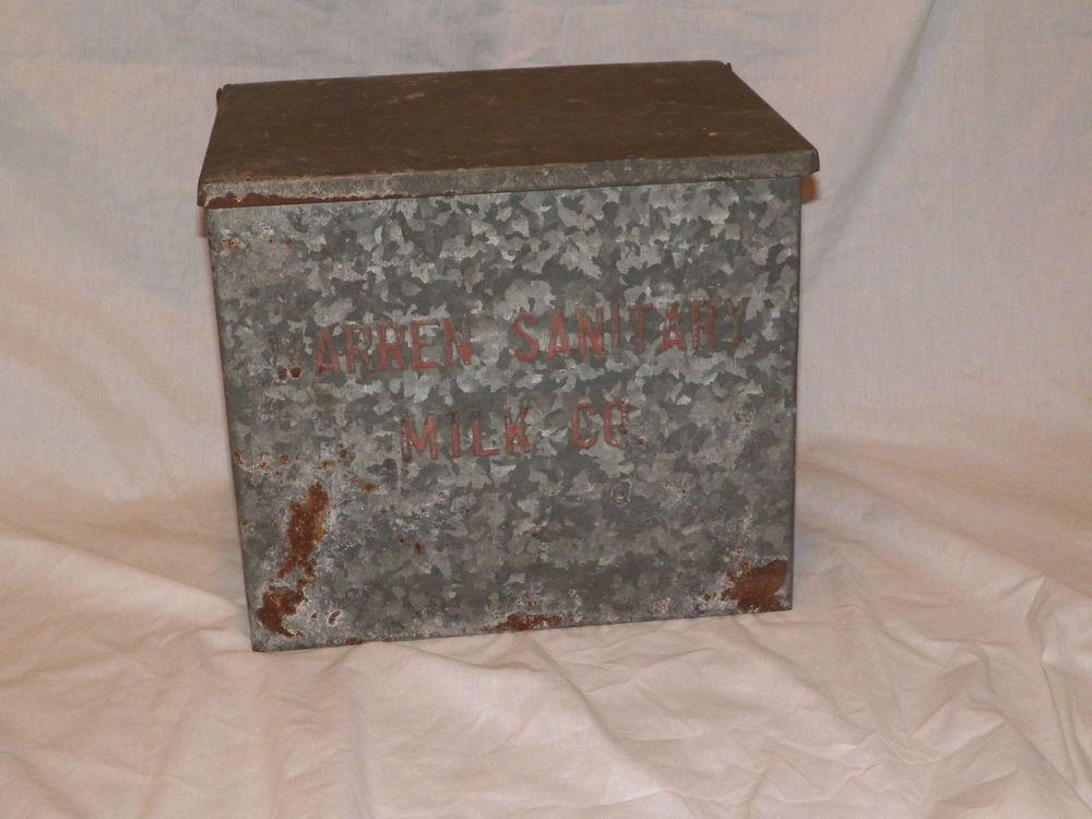 29 99 Warren Sanitary Dairy Insulated Galvanized Metal Milk Porch Box Galvanized Metal Porch Boxes Milk Box
