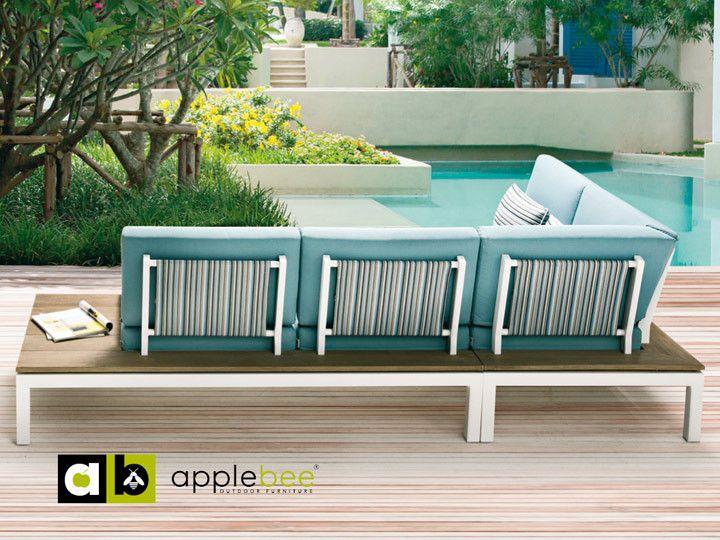 PEBBLE BEACH Lounge Garten Sofa #garten #gartenmöbel #gartensofa - loungemobel garten grau