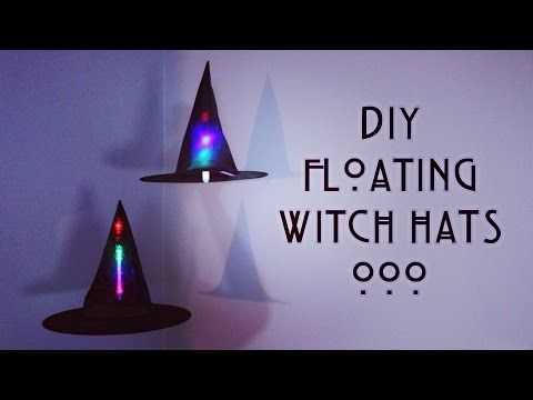 DIY Floating Witch Hats ✟ 31 Days of Halloween ✟ - YouTube - how to make halloween decorations youtube