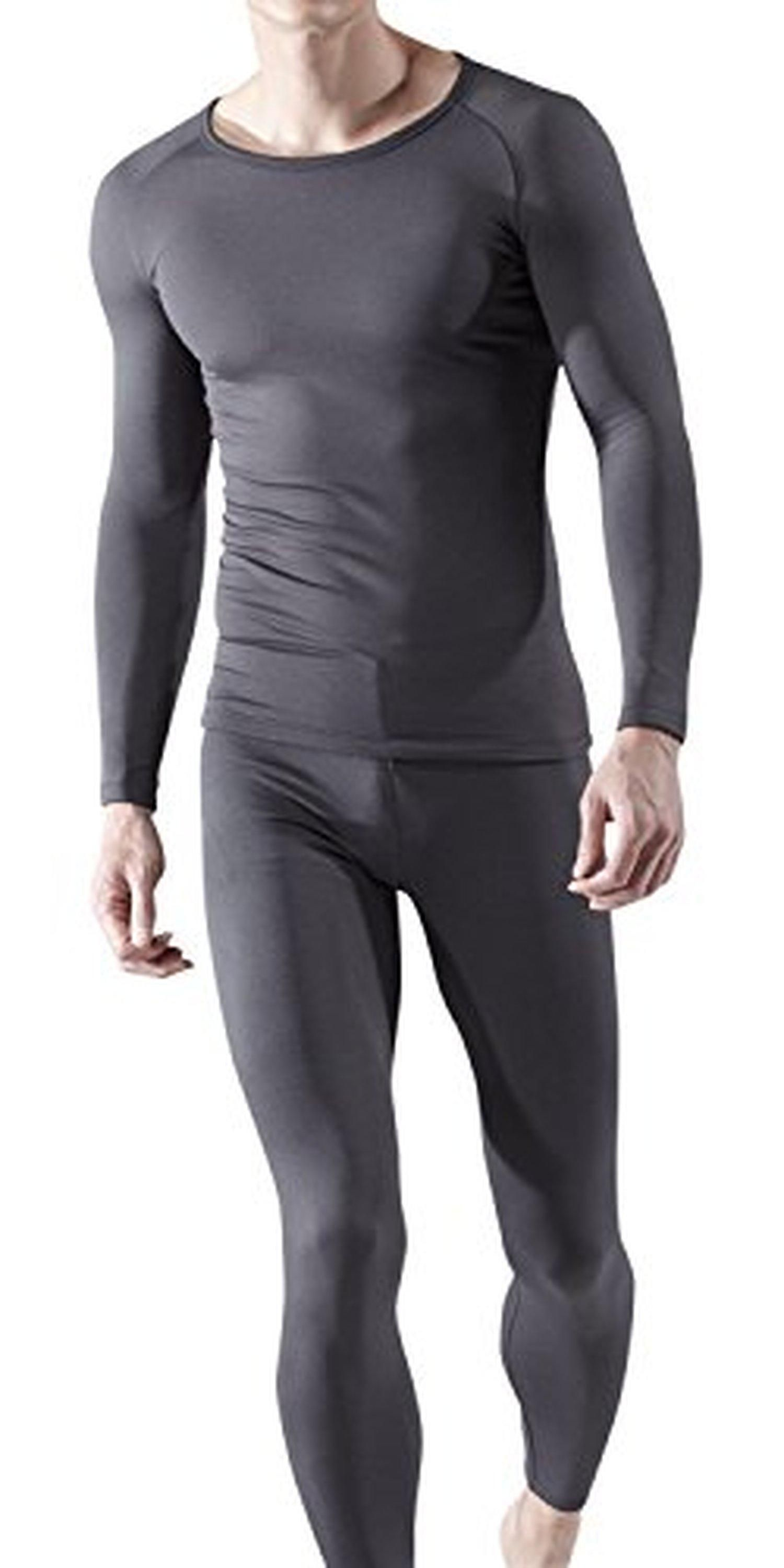 6b03d37e476 BU-MHS100-GRY Small j-M Blank Men s Thermal Microfiber Fleece Lined Top   Bottom  Underwear Set MHS100 - Brought to you by Avarsha.com