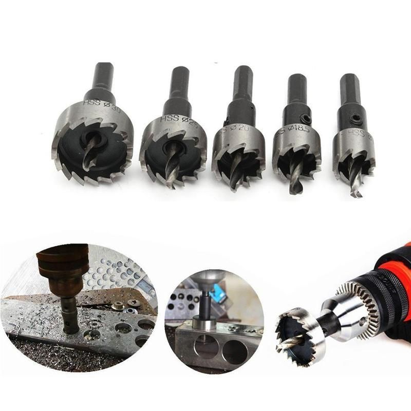 Domom 16 30mm Hss Drill Bit Hole Saw Set Papa Bear Home Hole Saw High Speed Steel Stainless Steel Plate