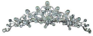 Silber Braut Vintage Jahrgang Perle Kristall Strass Blumen Hochzeit Abschlussball Tiara Diadem Haarkamm (12cm x 3.5cm) mit PreciousBags Schutz-Staubbeutel - http://design-fashion-shop.de/silber-braut-vintage-jahrgang-perle-kristall-strass-blumen-hochzeit-abschlussball-tiara-diadem-haarkamm-12cm-x-3-5cm-mit-preciousbags-schutz-staubbeutel/ #PreciousYou #TRZ95 #Brautschmuck #PreciousYou #TRZ95