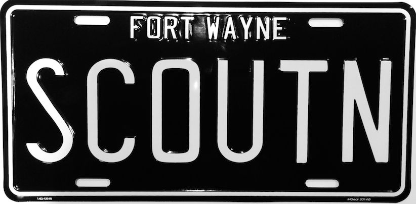 Ih Scout License Plate International Harvester Scout