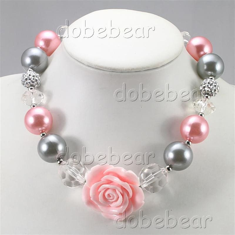 NB30659-grey-pink-pearl-acrylic-chunky-bead-little-girls-rose-pendant-necklace-.jpg (800×800)