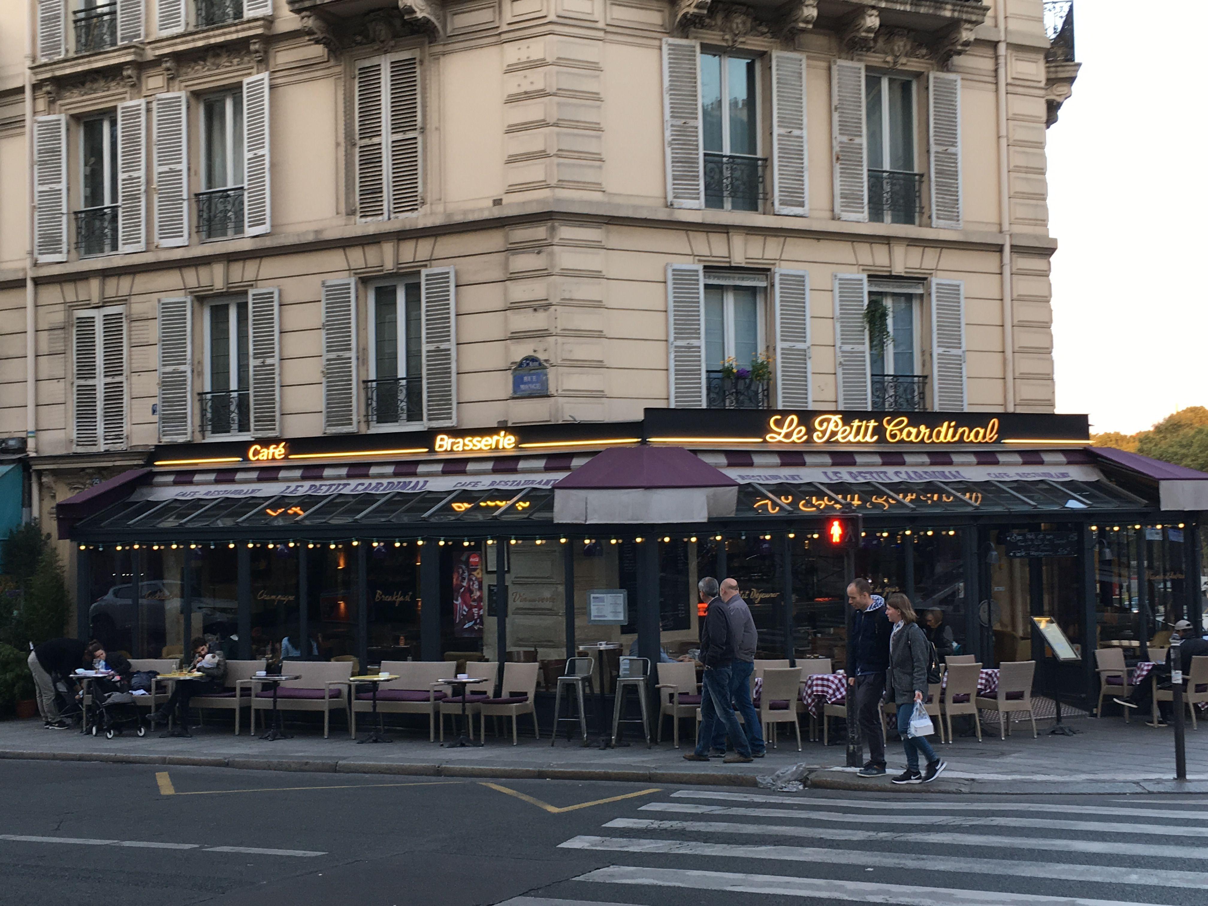 Cafe Brasserie Le Petit Cardinal Paris 5 Street View Travel Paris