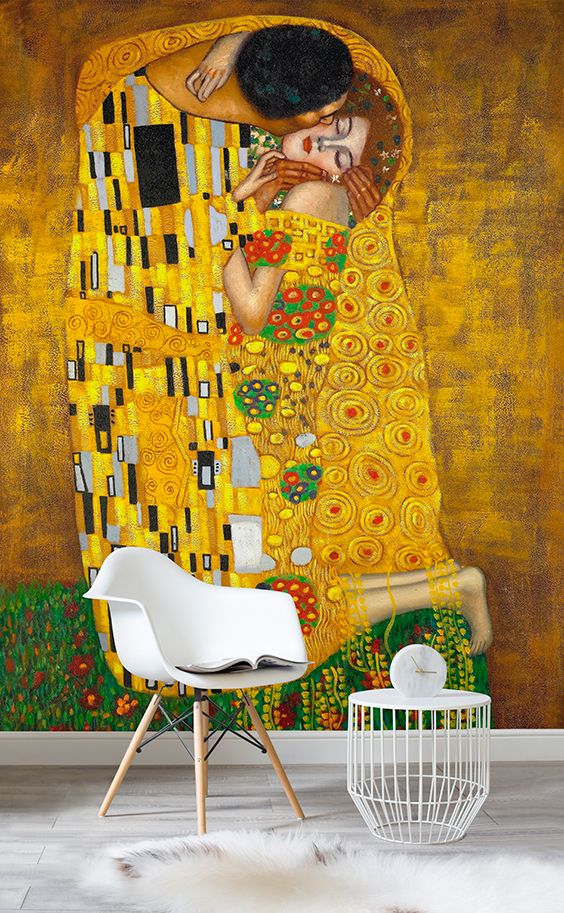 Gustav Klimt the Kiss Wall Mural | MuralsWallpaper.co.uk | Wallpaper ...