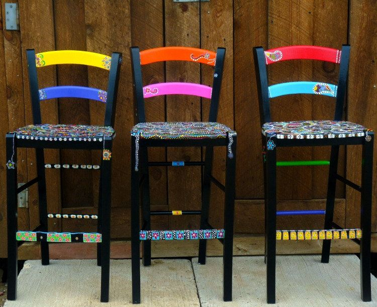Handpainted Funky Furniture By Dannimacstudios On Etsy, $250.00