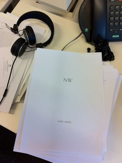 Very cool from Penguin - final draft of the new Zadie Smith novel!!!