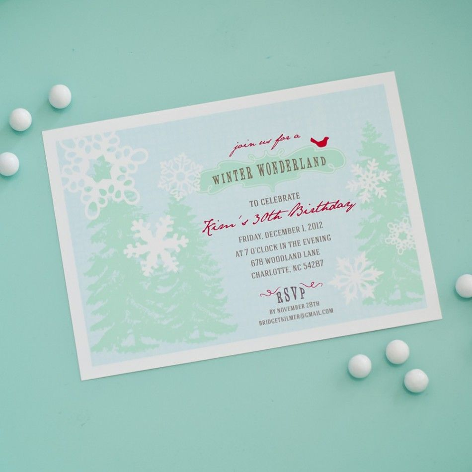 Winter Wonderland Holiday Or Birthday Party Printable