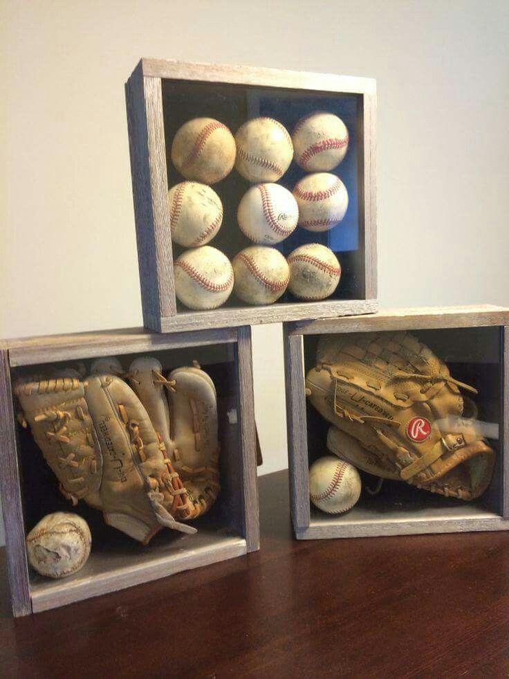 Baseball Shadow Boxes Softball Diy Baseball Diy In