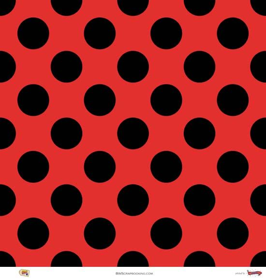 Red And Black Polka Dots Crafting Paper Red Wallpaper Polka Dots