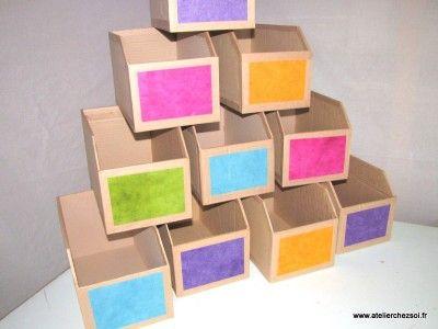 Tutoriel des casiers de rangement en carton casier de rangement casiers et meuble en carton - Tutoriel meuble en carton ...