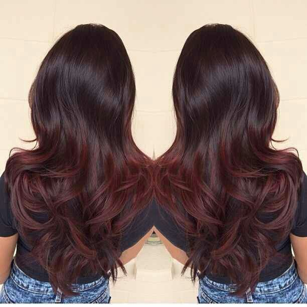 dark brown to auburn ombre hair - Google Search | B-E-A-U ...