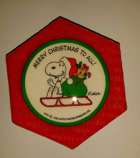 Hey, I found this really awesome Etsy listing at https://www.etsy.com/jp/listing/211531848/vintage-original-snoopy-on-sleigh-merry