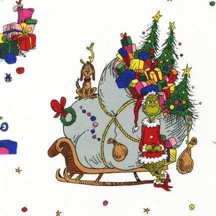 scenes dr seuss how the grinch stole christmas by robert kaufman fabrics