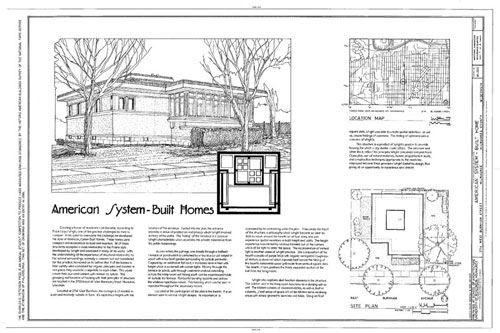 American System Built Homes Frank Lloyd Wright S Essay Into Prefabricated Housing He Did Sev Frank Lloyd Wright Frank Lloyd Wright Homes Prairie Style Houses
