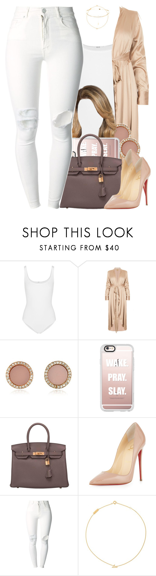 """""""30 July, 2016"""" by jamilah-rochon ❤ liked on Polyvore featuring Wolford, Michael Kors, Casetify, Hermès, Christian Louboutin, (+) PEOPLE and Yves Saint Laurent"""