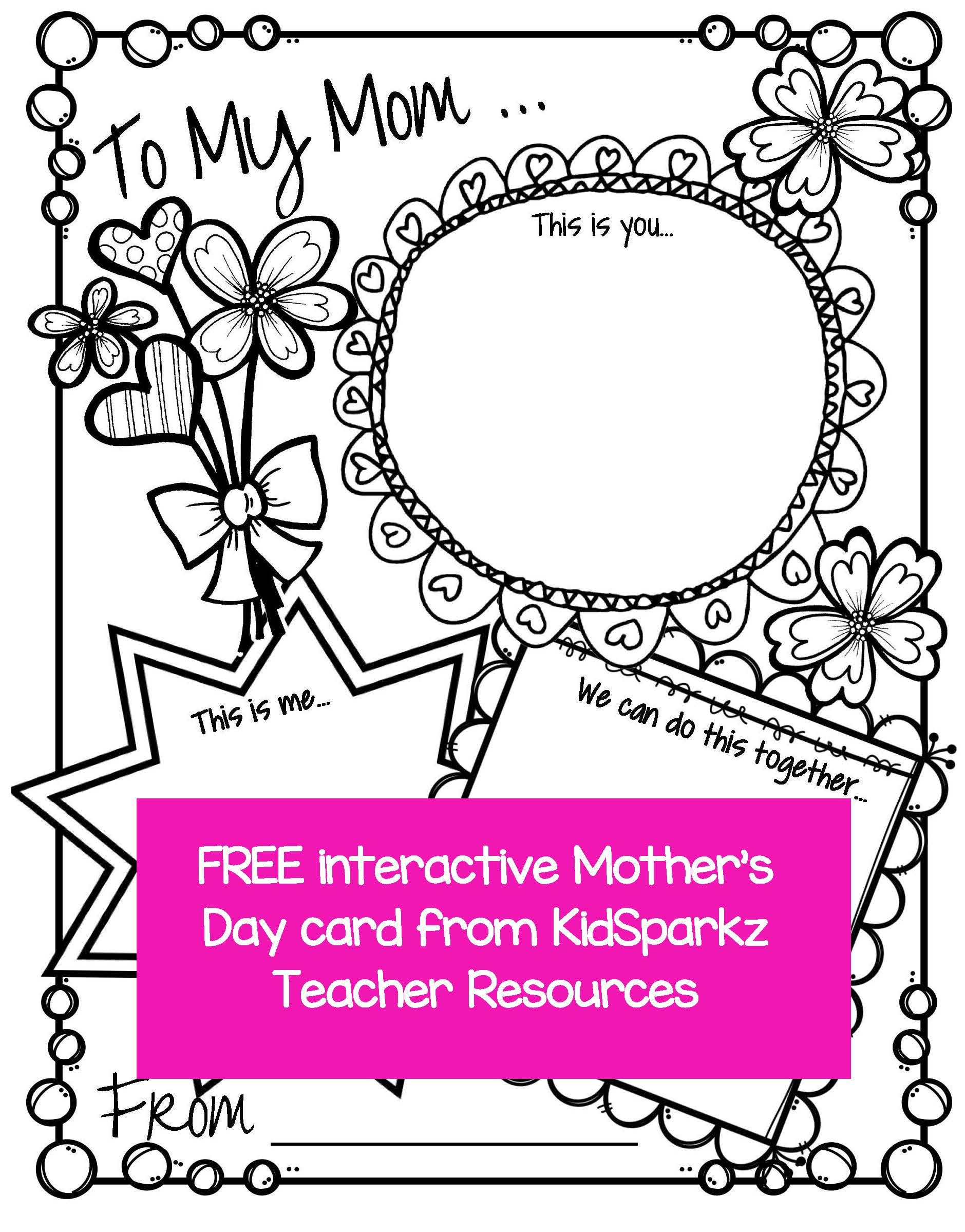 Mother S Day Activity Card