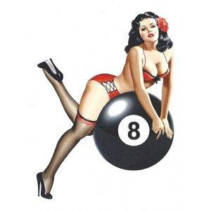 décalcomanie pin up rétro vintage elvgreen vespa rockabilly années 50