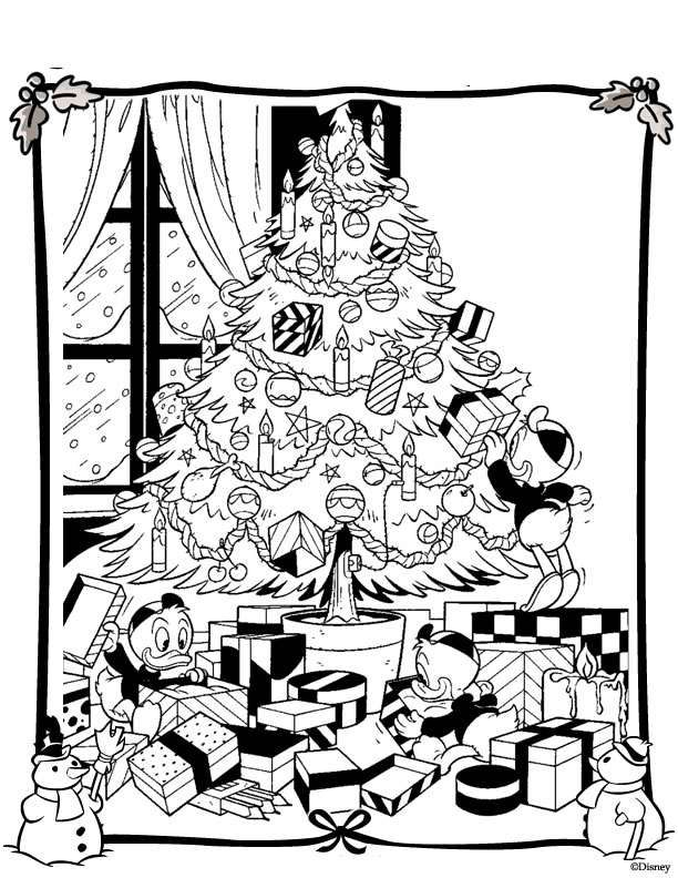 Kerstmis Disney kleurplaat | Kleurplaten | Pinterest - Navidad ...