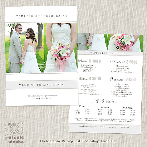 Wedding Photography Package Pricing List By Clicksdesigns 10 00